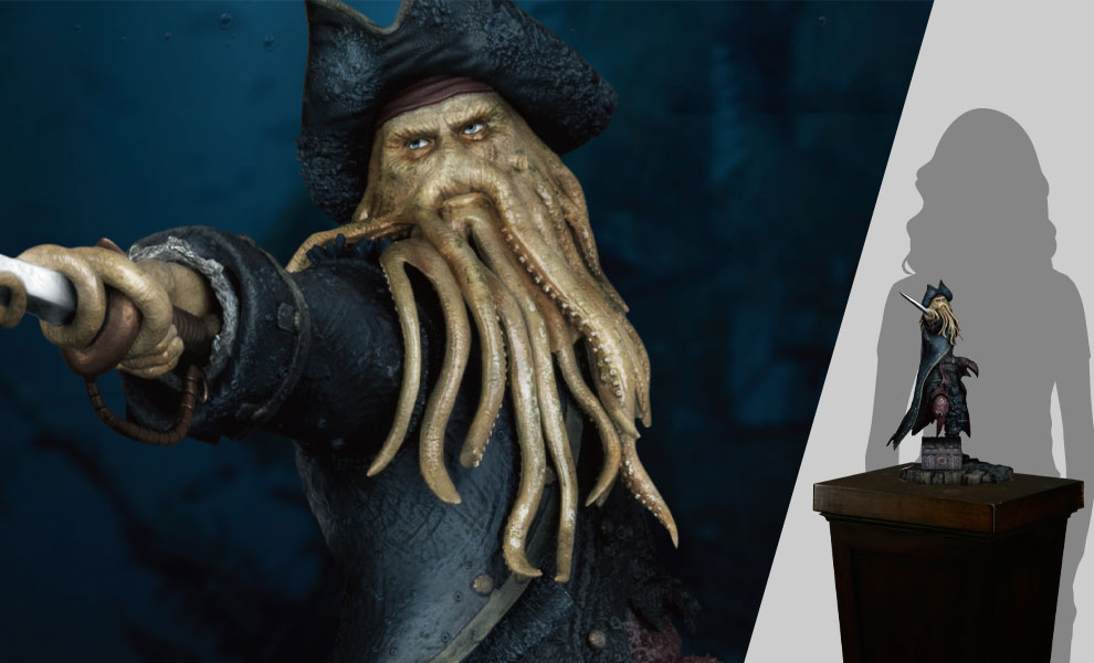 Gallery Feature Image of Davy Jones Polystone Statue - Click to open image gallery