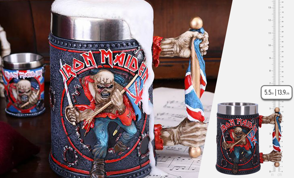 Gallery Feature Image of Iron Maiden Tankard Collectible Drinkware - Click to open image gallery