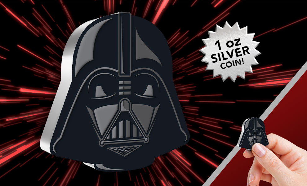 Gallery Feature Image of Darth Vader™ 1oz Silver Coin Silver Collectible - Click to open image gallery