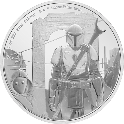 New Zealand Mint The Mandalorian™ Classic 1oz Silver Coin Silver Collectible