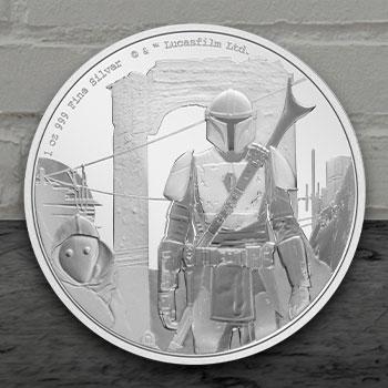 The Mandalorian™ Classic 1oz Silver Coin Silver Collectible