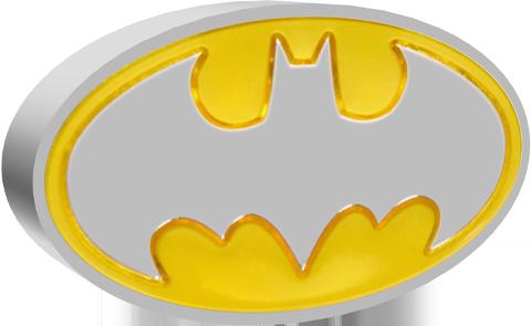 New Zealand Mint Batman Logo 1oz Silver Coin Silver Collectible