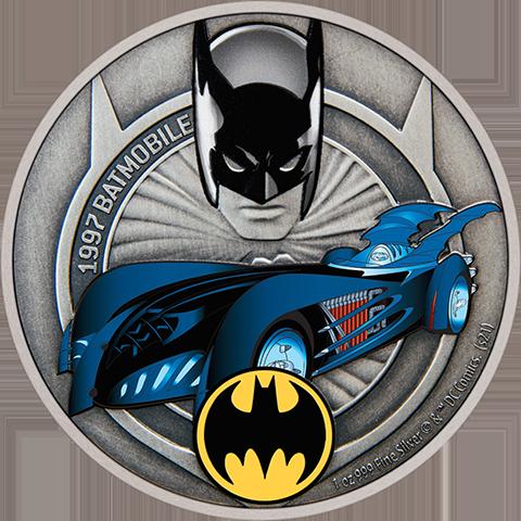 New Zealand Mint 1997 Batmobile 1oz Silver Coin Silver Collectible