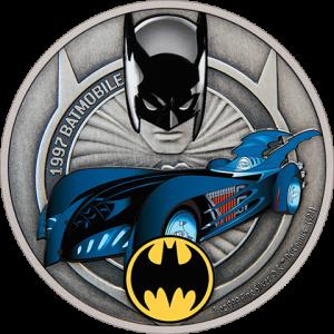 1997 Batmobile 1oz Silver Coin Silver Collectible