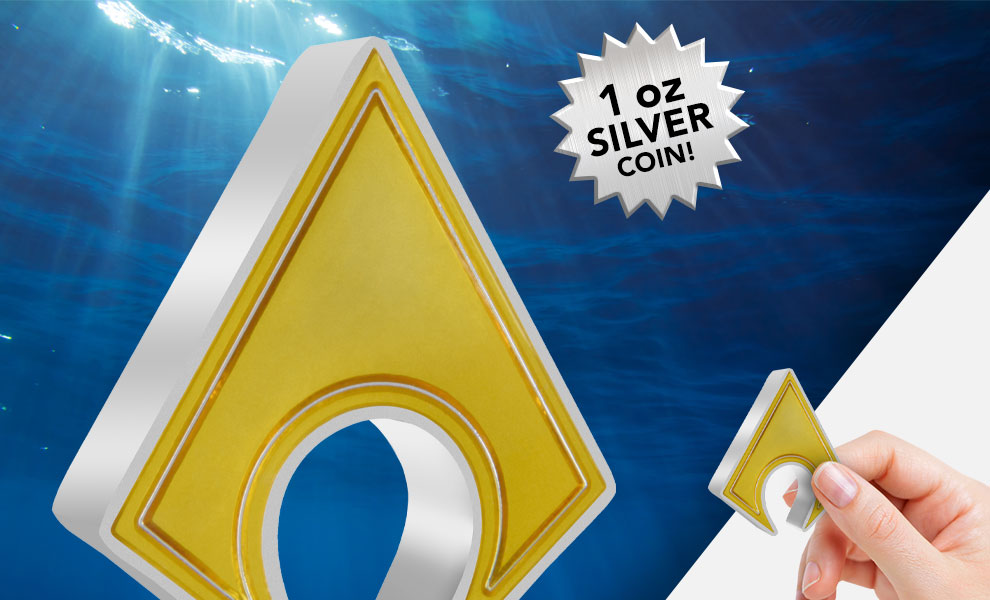 Gallery Feature Image of Aquaman Emblem 1oz Silver Coin Silver Collectible - Click to open image gallery