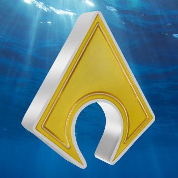 Aquaman Emblem 1oz Silver Coin Silver Collectible