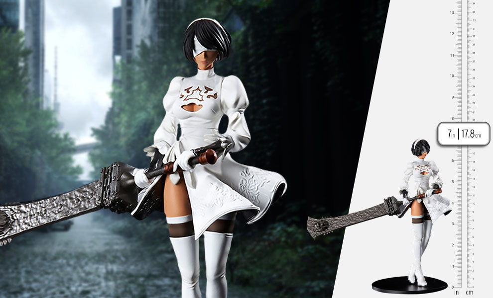 Gallery Feature Image of 2B (YoRHa No.2 Type B) 2P Color Version Statuette - Click to open image gallery