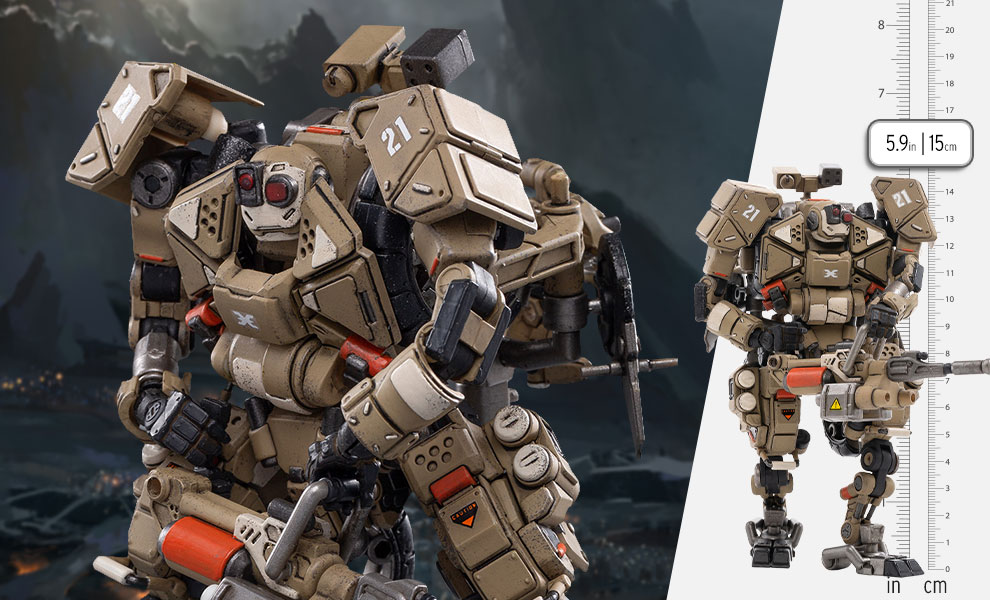 Gallery Feature Image of X-HH02 Hurricane-Heavy Firepower Dual Mode Mecha (Sand) Collectible Figure - Click to open image gallery