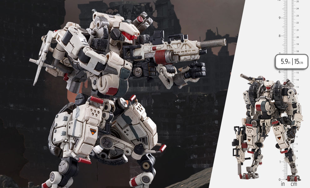 Gallery Feature Image of X-HLA01 Hurricane-Light Assault Dual Mode Mecha (White) Collectible Figure - Click to open image gallery