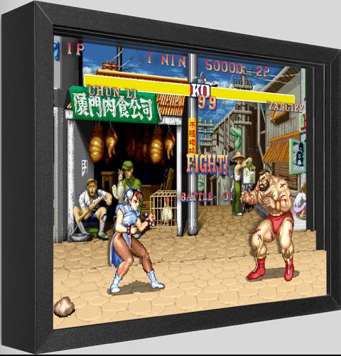 Artovision Street Fighter Chun-Li vs. Zangief Shadow box art