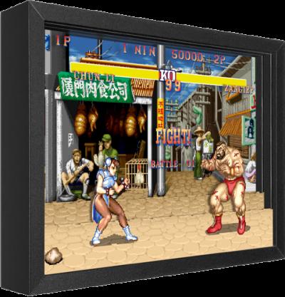 Street Fighter Chun-Li vs. Zangief Shadow box art