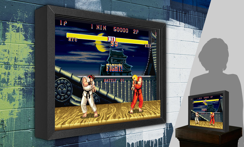 Gallery Feature Image of Street Fighter Ryu vs. Ken Shadow box art - Click to open image gallery