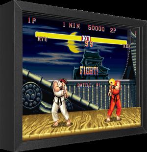 Street Fighter Ryu vs. Ken Shadow box art