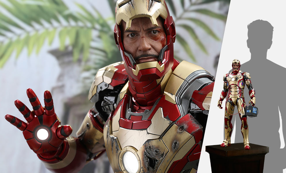 Gallery Feature Image of Iron Man Mark XLII (Deluxe Version) Quarter Scale Figure - Click to open image gallery