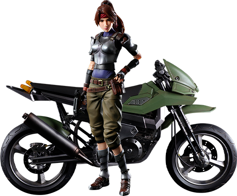 Square Enix Jessie and Motorcycle Action Figure