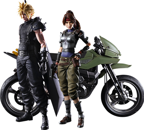 Square Enix Jessie, Cloud, and Motorcycle Action Figure