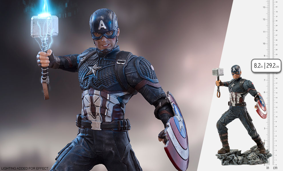 Gallery Feature Image of Captain America Ultimate 1:10 Scale Statue - Click to open image gallery