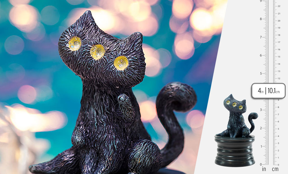 Gallery Feature Image of Fantasy Night Cat Figurine - Click to open image gallery
