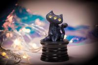 Gallery Image of Fantasy Night Cat Figurine