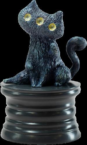 Fantasy Night Cat Figurine