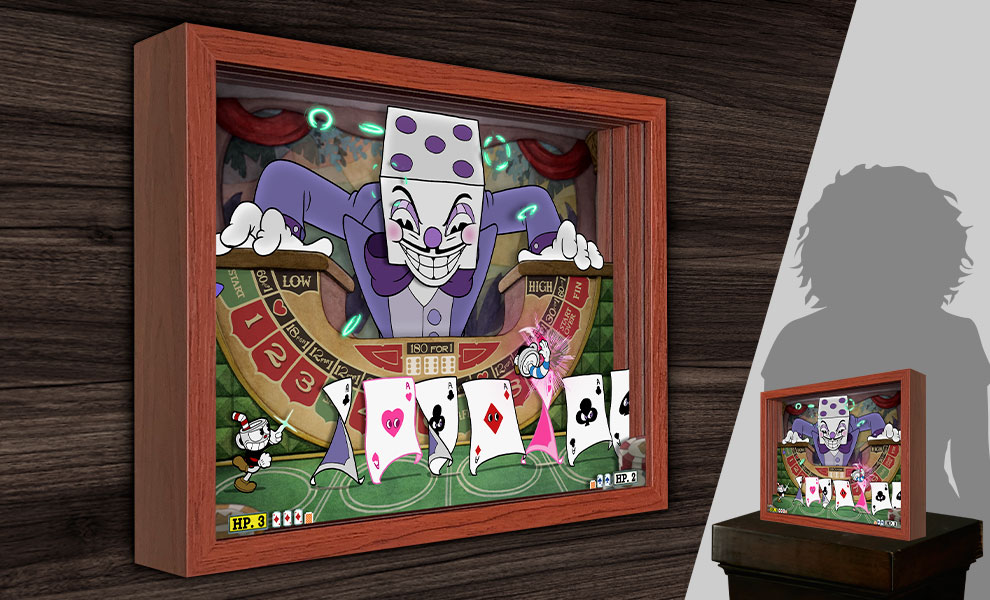 Gallery Feature Image of Cuphead King Dice Shadow box art - Click to open image gallery