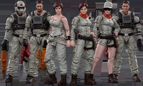 Joytoy Mech Maintenance Team A Collectible Set