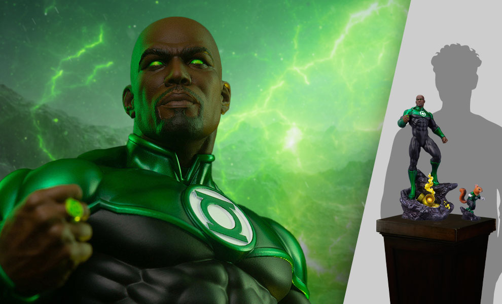 Gallery Feature Image of John Stewart – Green Lantern Maquette - Click to open image gallery