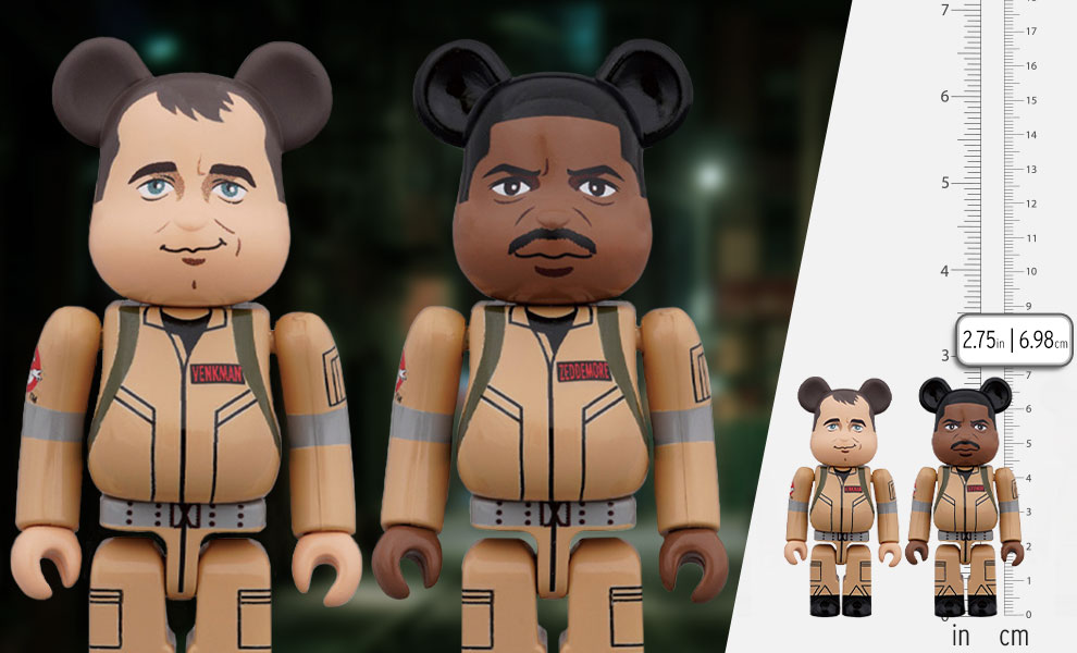 Gallery Feature Image of Be@rbrick Peter Venkman and Winston Zeddemore 100% Bearbrick - Click to open image gallery