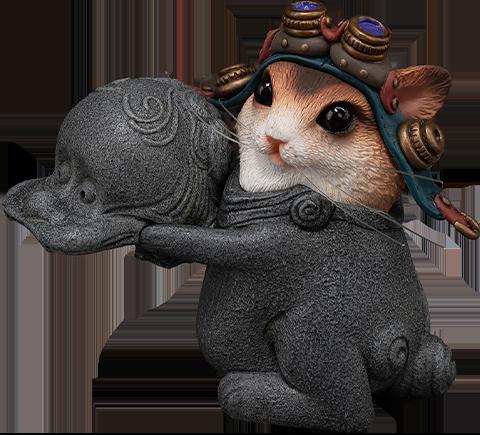 Manas SUM Teasie Beastie – Mouse Pilot (Blue Helmet) Figurine