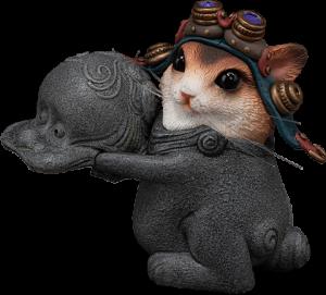 Teasie Beastie – Mouse Pilot (Blue Helmet) Figurine
