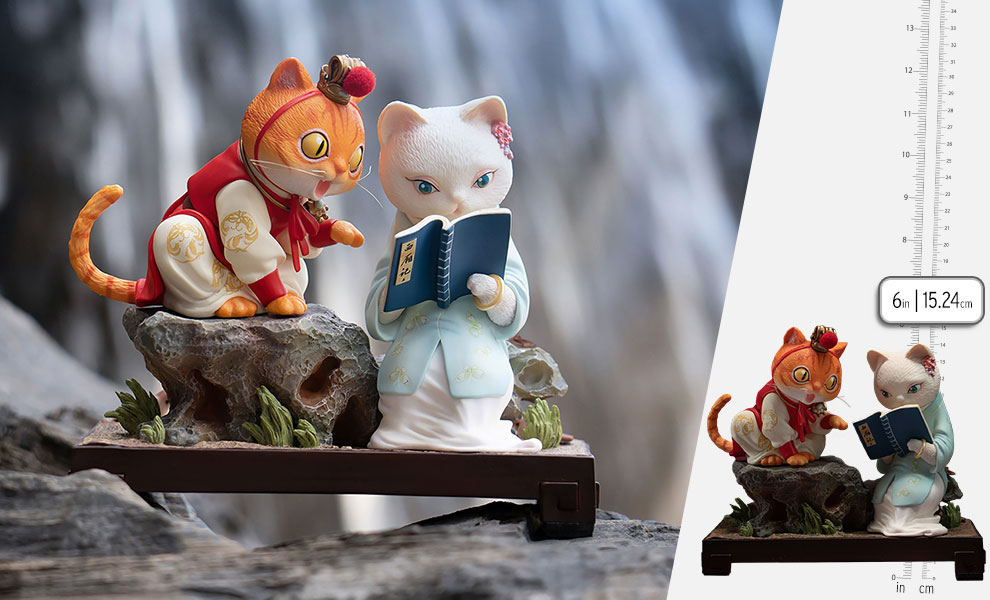 Gallery Feature Image of Bao and Dai Cat Figurine - Click to open image gallery