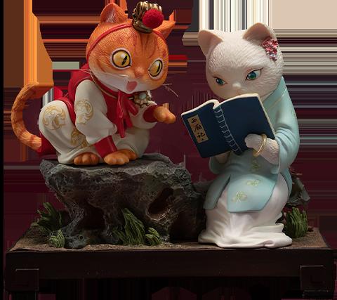 Manas SUM Bao and Dai Cat Figurine