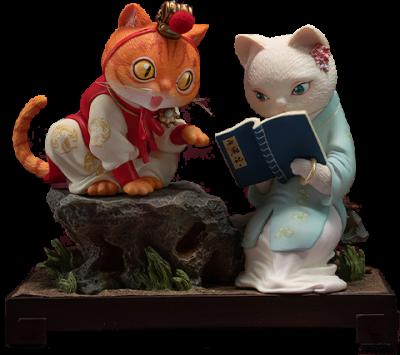 Bao and Dai Cat Figurine