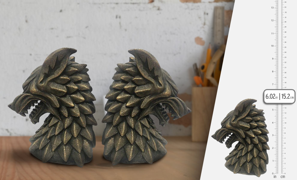 Gallery Feature Image of House Stark Bookends Office Supplies - Click to open image gallery