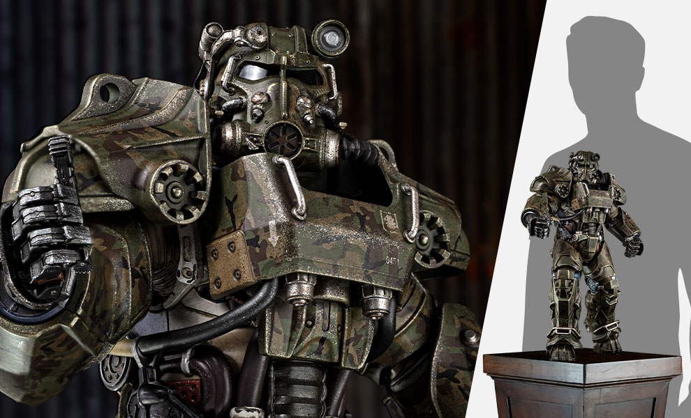 Gallery Feature Image of T-60 Camouflage Power Armor Sixth Scale Figure - Click to open image gallery