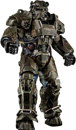 T-60 Camouflage Power Armor Sixth Scale Figure