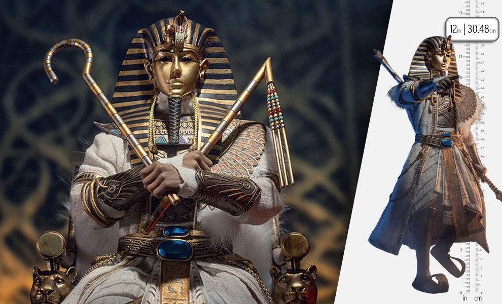 Gallery Feature Image of Pharoah Tutankhamun (White) Sixth Scale Figure - Click to open image gallery