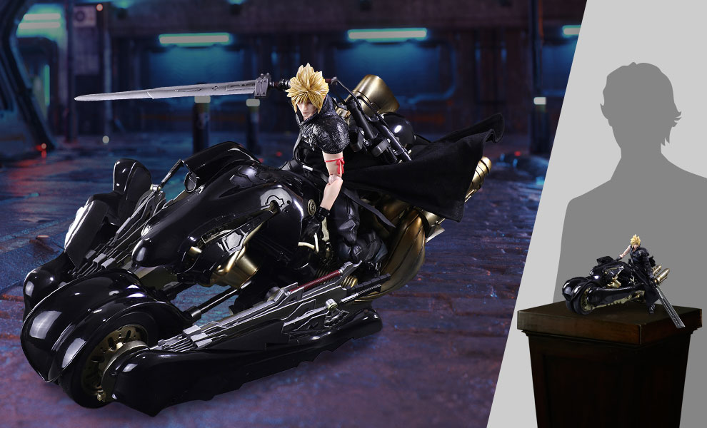 Gallery Feature Image of Cloud Strife & Fenrir Action Figure - Click to open image gallery