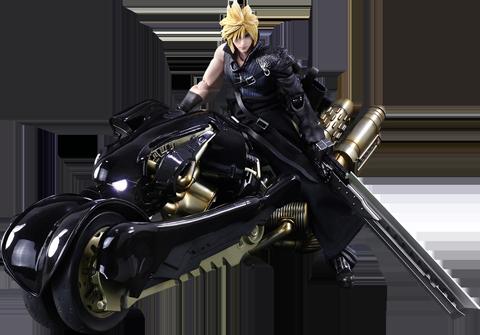 Square Enix Cloud Strife & Fenrir Action Figure