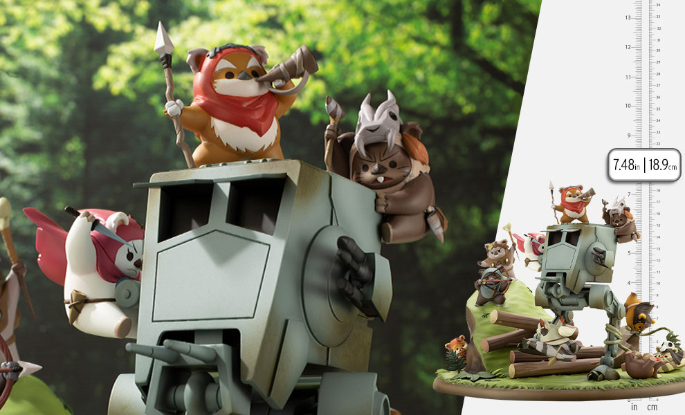 Gallery Feature Image of Battle of Endor The Little Rebels Statue - Click to open image gallery