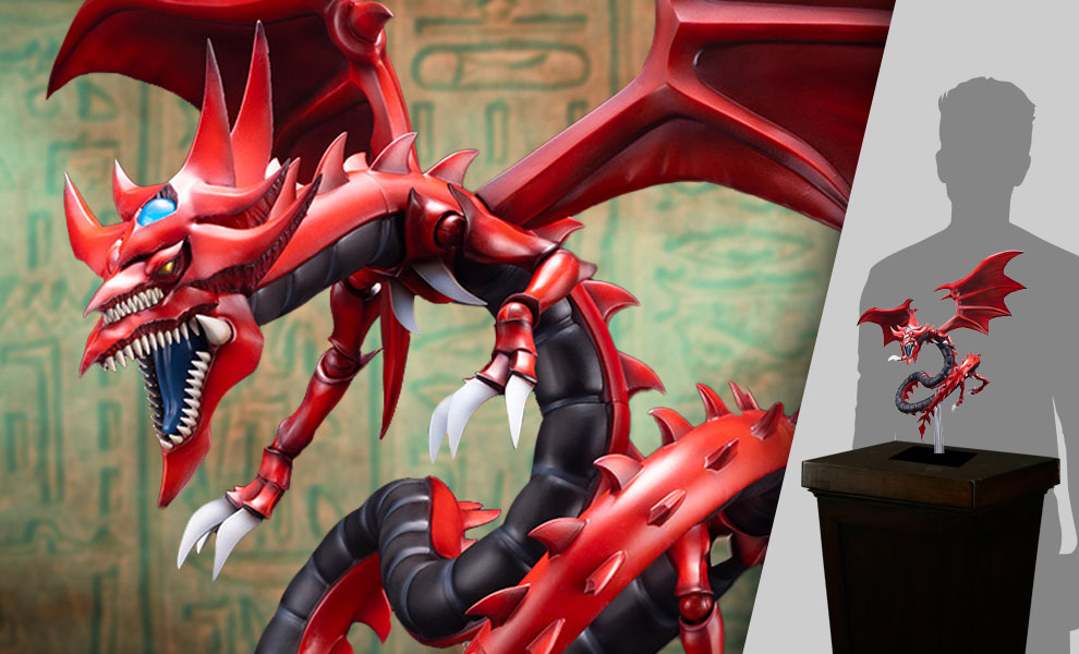 Gallery Feature Image of Slifer the Sky Dragon Egyptian God Statue - Click to open image gallery