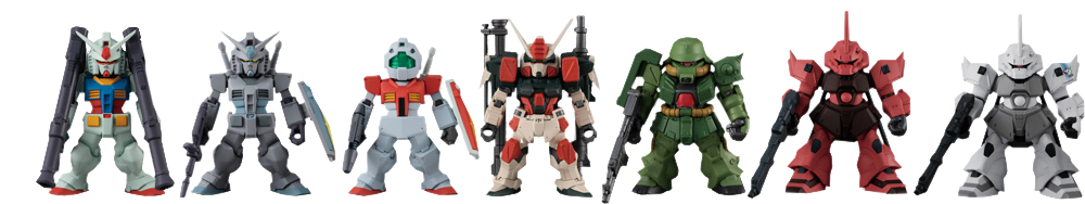 Bandai FW Gundam Converge #22 Collectible Set