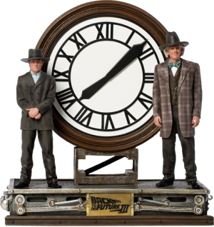 Marty and Doc at the Clock Deluxe 1:10 Scale Statue