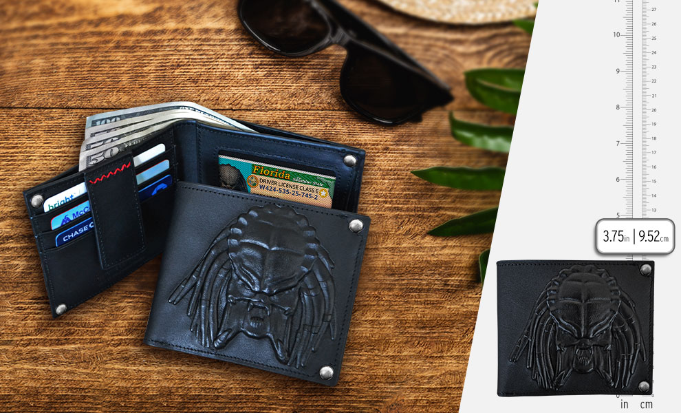 Gallery Feature Image of Predator Embossed Leather Wallet Apparel - Click to open image gallery