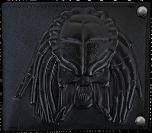 Predator Embossed Leather Wallet Apparel