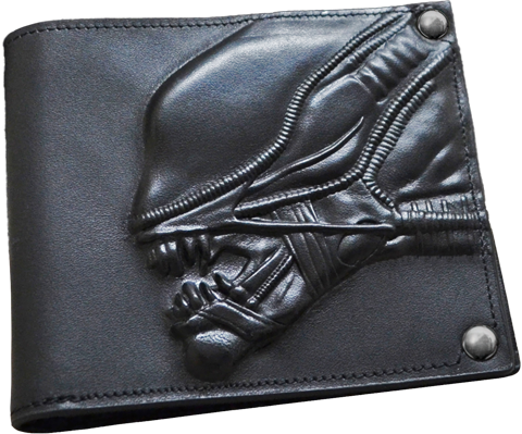 Hollywood Collectibles Group Alien Embossed Leather Wallet Apparel
