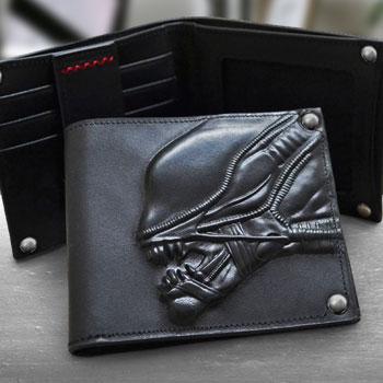 Alien Embossed Leather Wallet Apparel
