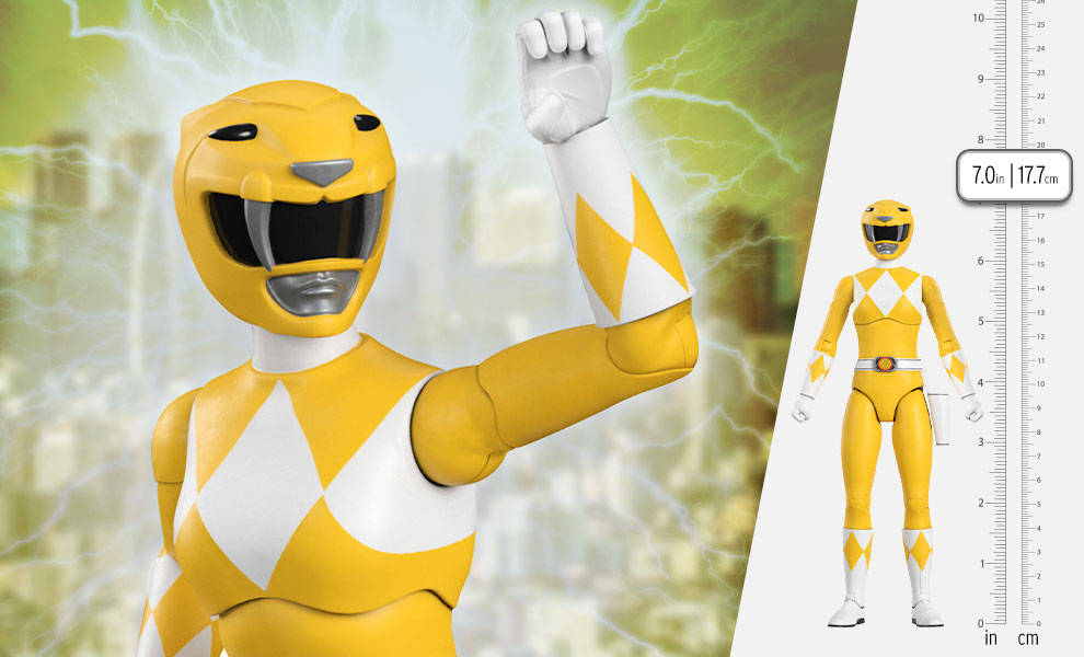 Gallery Feature Image of Yellow Ranger Action Figure - Click to open image gallery