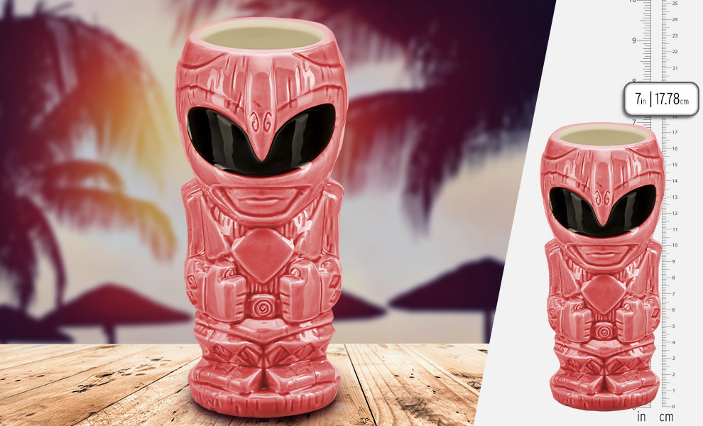 Gallery Feature Image of Pink Ranger Tiki Mug - Click to open image gallery