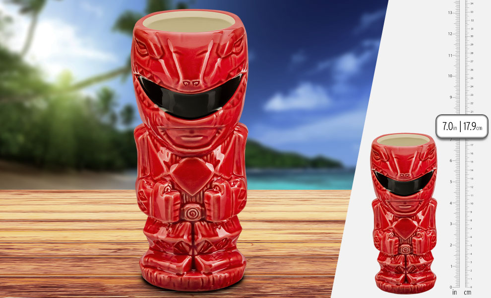 Gallery Feature Image of Red Ranger Tiki Mug - Click to open image gallery